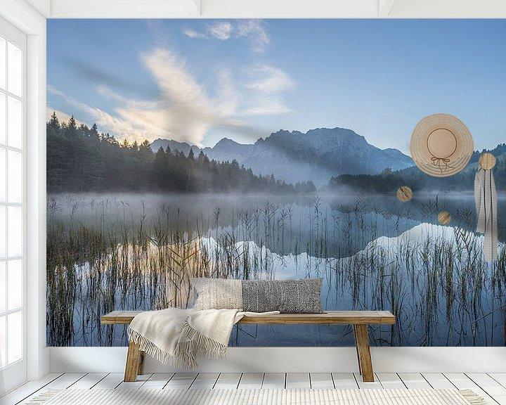 Beispiel fototapete: Morgens am See von Patrice von Collani