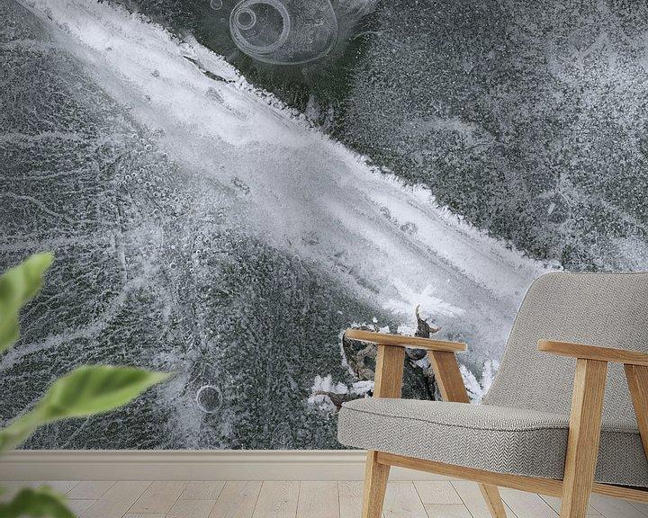 Sfeerimpressie behang: Frozen Frog van Cor Ritmeester
