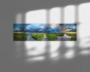 Polder landschap 360  van Dennis van de Water