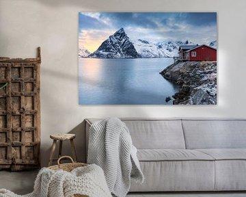 Rood huis aan zee van Tilo Grellmann | Photography