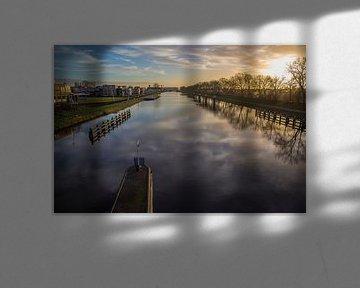 Zonsondergang langs het Kanaal door Walcheren van Marcel Klootwijk