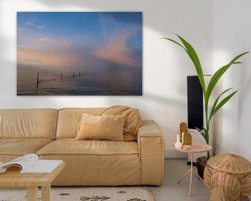 Zonsondergang aan het IJsselmeer  van Marcel Klootwijk