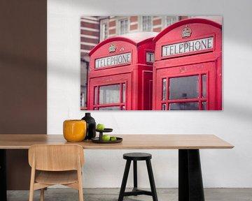 Cabine téléphonique à Londres sur Callista de Sterke