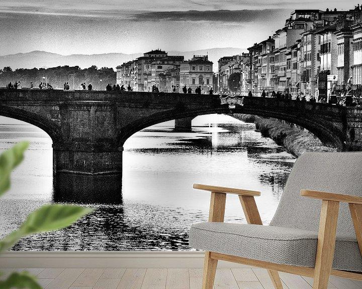Sfeerimpressie behang: Bridges of Florence van SPOOR Spoor