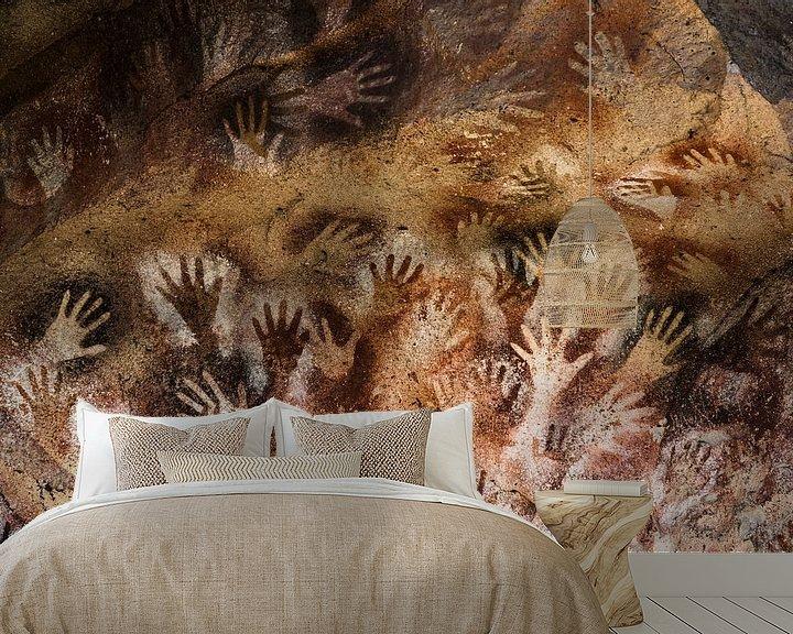 Sfeerimpressie behang: Grot van de Handen van Arno Maetens