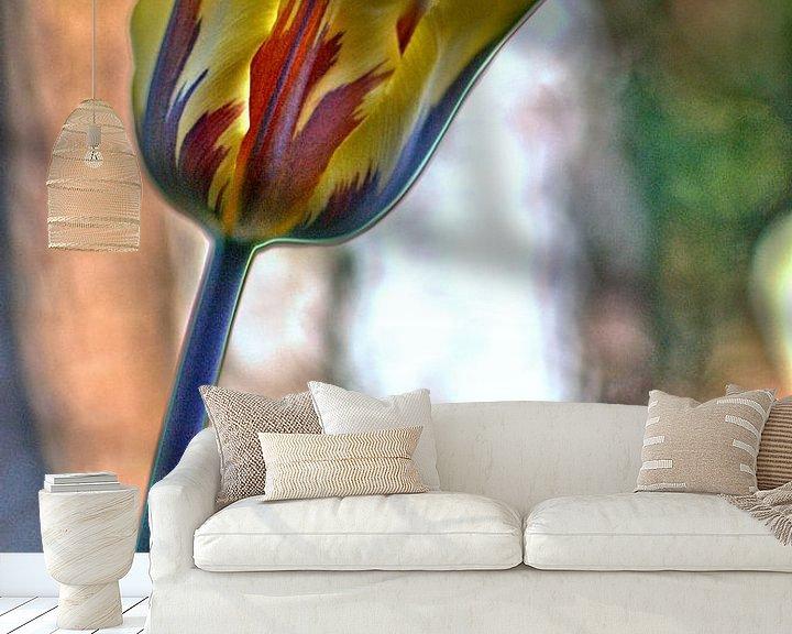Sfeerimpressie behang: tulp van Erik Reijnders