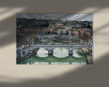 Rom Tiberbrücken van Joachim G. Pinkawa