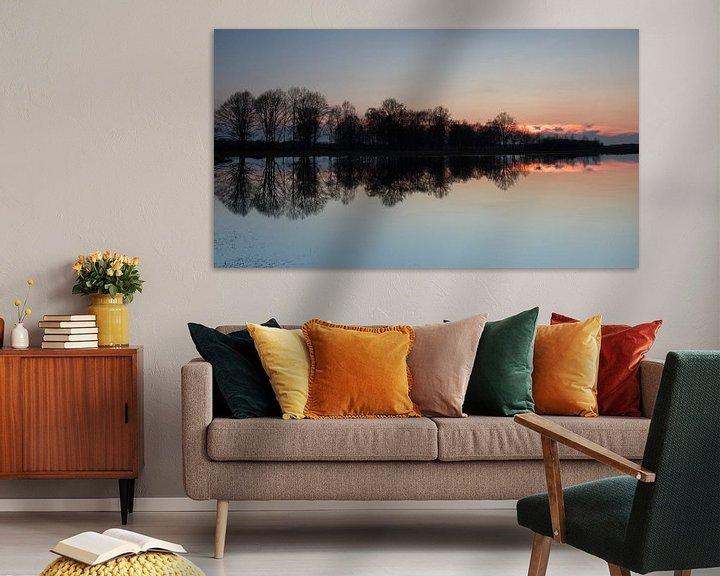 Sfeerimpressie: Zonsondergang in het Haaksbergerveen van Art Wittingen