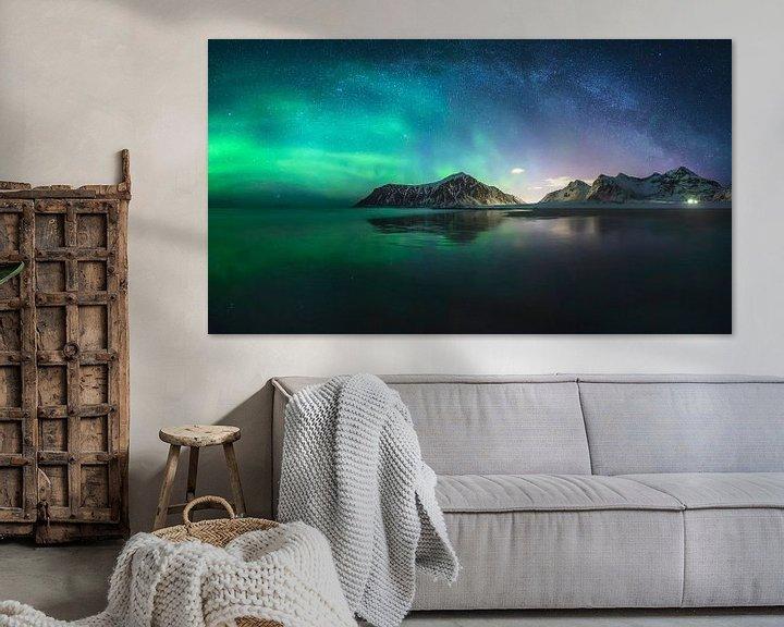 Beispiel: Nordlichter und Milchstraße von Sven Broeckx