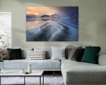 Zonsondergang bij Skagsanden. von Sven Broeckx