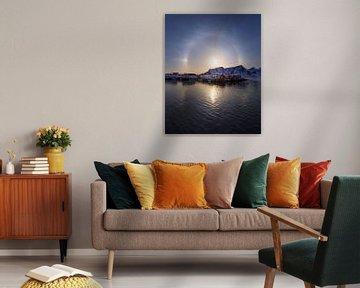 Sonnenhund Lofoten von Sven Broeckx