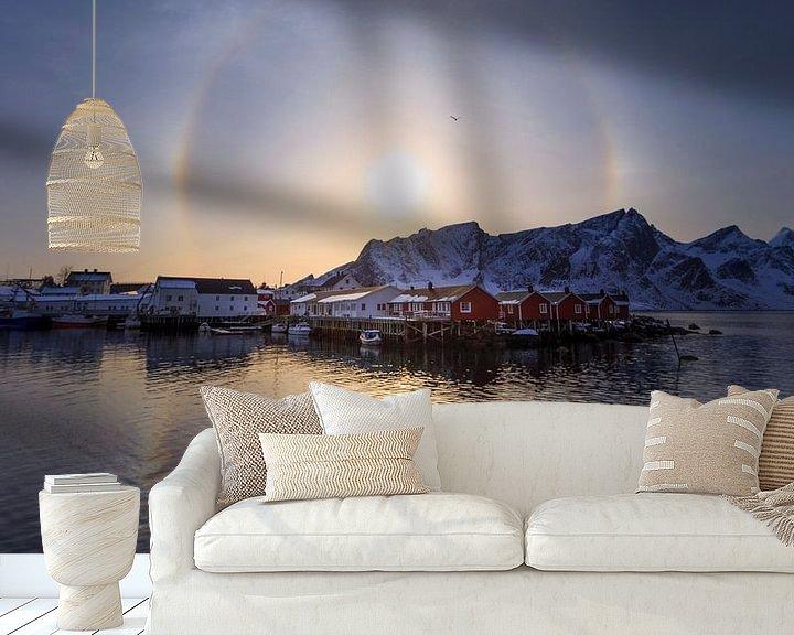 Sfeerimpressie behang: De zonnehond. van Sven Broeckx