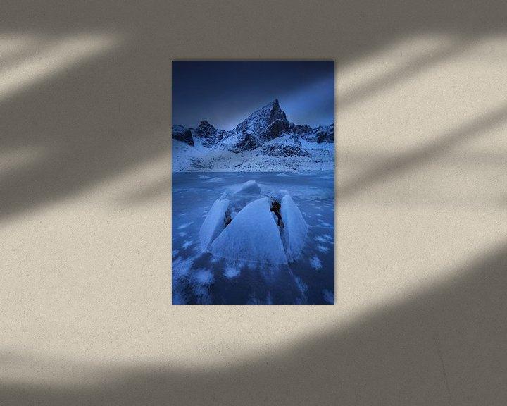Sfeerimpressie: Het bevoren fjord. van Sven Broeckx