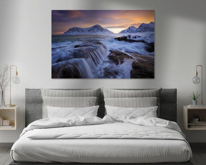 Sfeerimpressie: Zonsopgang bij Skagsanden. van Sven Broeckx