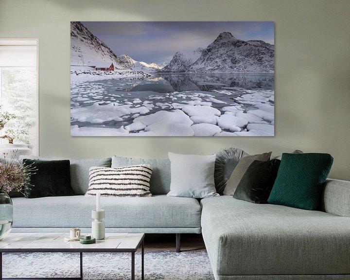 Sfeerimpressie: Flakstad Fjord (Lofoten) van Sven Broeckx