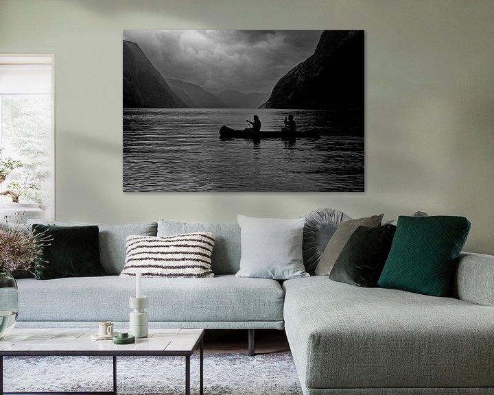 Sfeerimpressie: Lysebotn Fjord Norway van Ron de Poorter