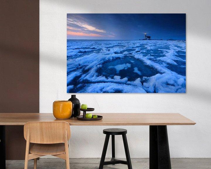 Sfeerimpressie: Winter bij het Paard van Marken. van Sven Broeckx