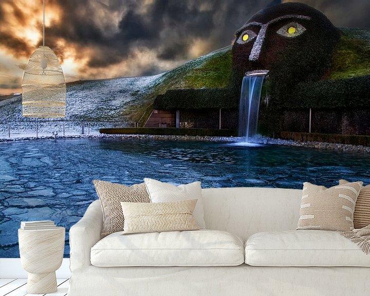 Sfeerimpressie behang: Ik zie je... van Konstantinos Lagos