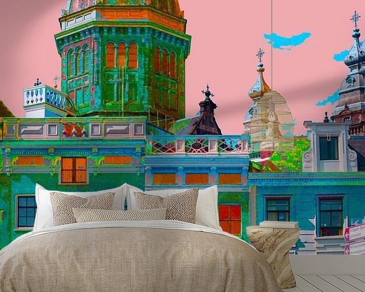 Sfeerimpressie behang: Colourful Amsterdam van Foto Amsterdam/ Peter Bartelings