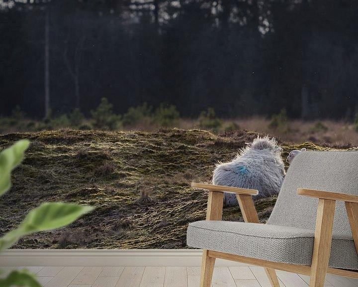Sfeerimpressie behang: Schaap met lam van Martzen Fotografie