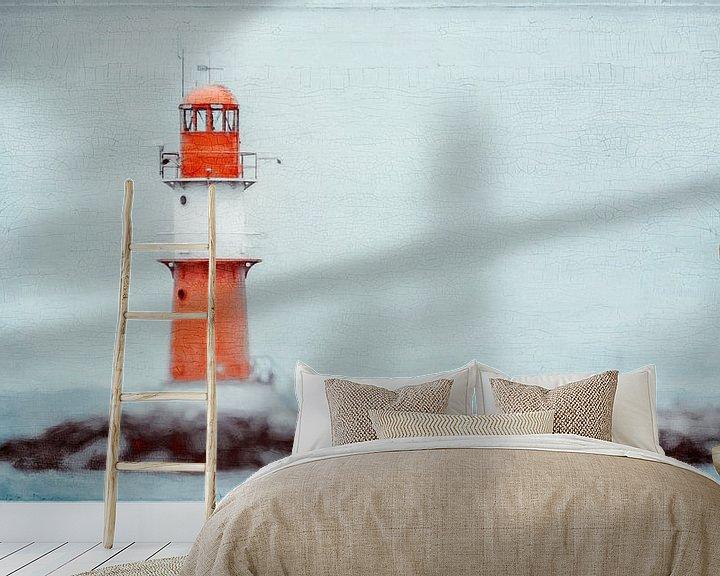 Beispiel fototapete: Leuchtturm von Warnemünde von Heiko Westphalen