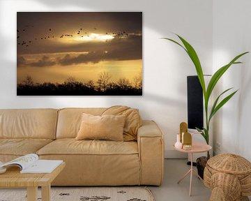 Golden sky van Robert Wagter