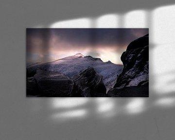 Zonsondergang op Slieve Binnian von Maaike van Tol