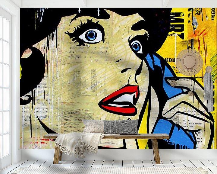 Sfeerimpressie behang: Don't call me, baby van Michiel Folkers