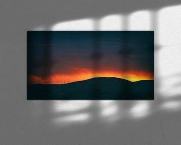 Red red sky van Jacqueline Lemmens