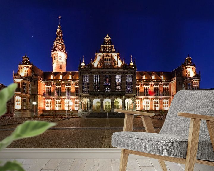Sfeerimpressie behang: Het Academiegebouw Groningen van Frenk Volt