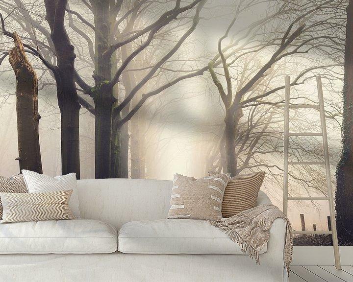 Sfeerimpressie behang: Forest serene van Rob Visser