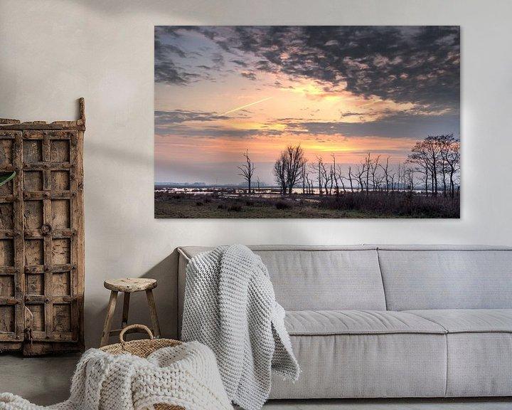 Sfeerimpressie: Zonsondergang De Onlanden van Sandra de Heij