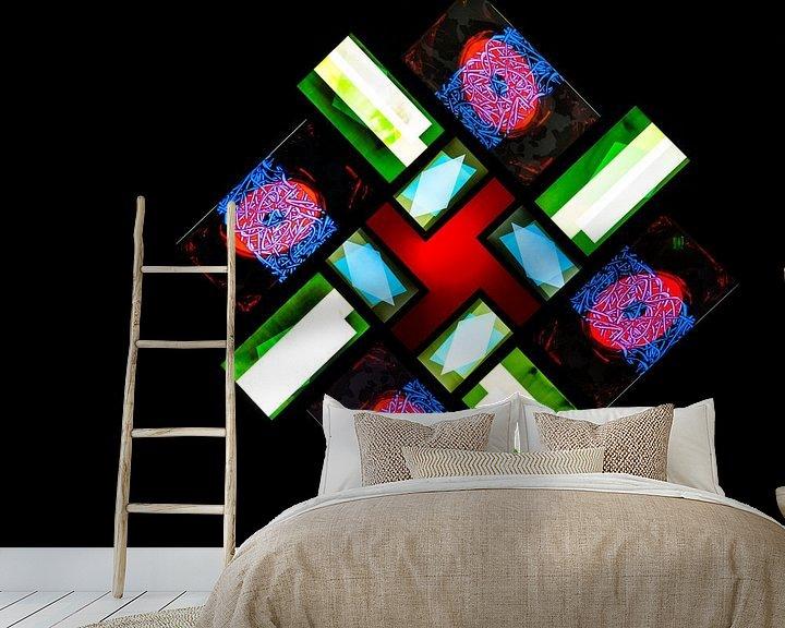 Sfeerimpressie behang: licht en effecten van Konstantinos Lagos