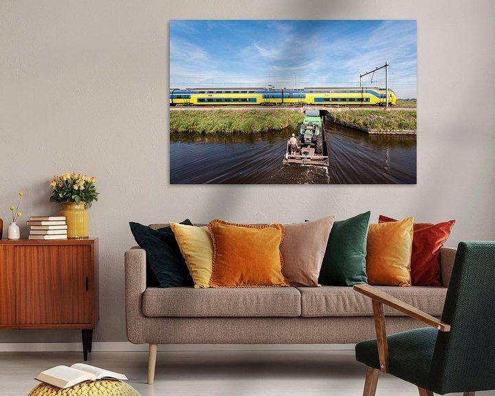 Sfeerimpressie: De trein in het Nederlandse landschap: Oostzaan van John Verbruggen