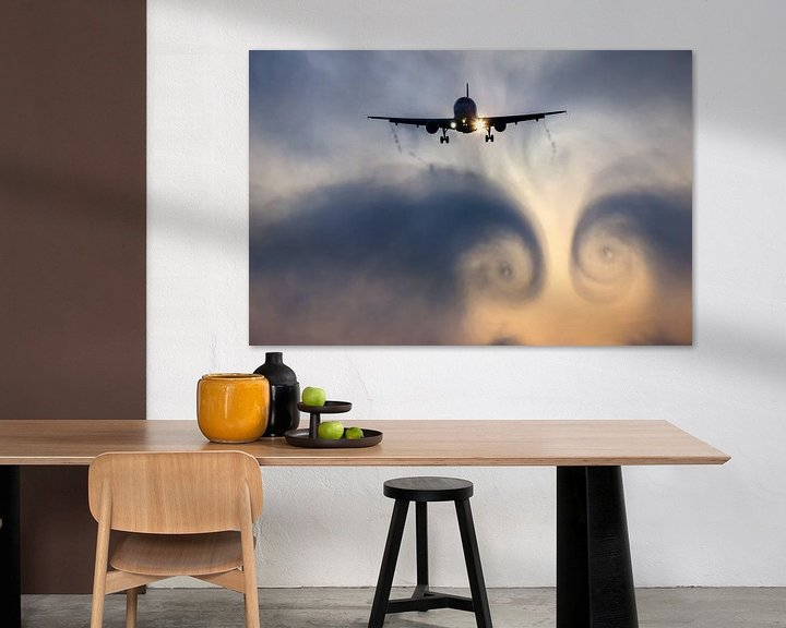 Sfeerimpressie: Airplane cloudburst vortex van Bas van der Spek