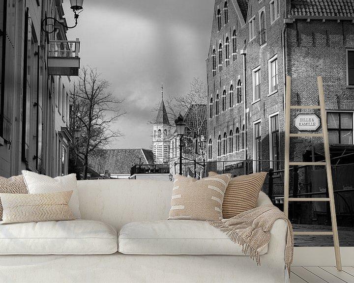 Sfeerimpressie behang: Langegracht, Amersfoort BW van Marlous en Stefan P.