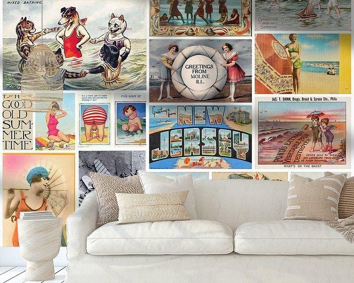 Sfeerimpressie behang: Vintage Summer Time van Bright Designs
