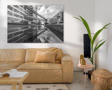Van Nelle Fabrik in Rotterdam gespiegelt von MS Fotografie | Marc van der Stelt
