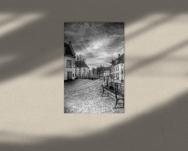 Sfeerimpressie: Havik historisch Amersfoort zwartwit van Watze D. de Haan