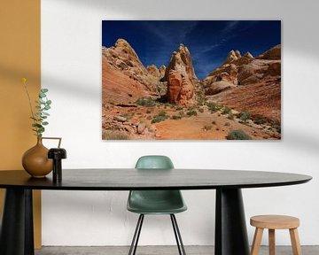 Lagen en kleuren in de woestijn van Louise Poortvliet