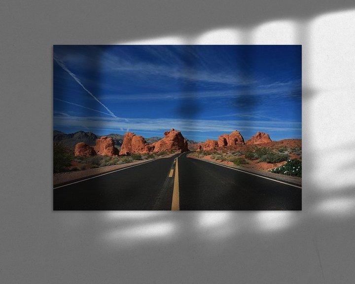 Sfeerimpressie: Road in the desert van Louise Poortvliet