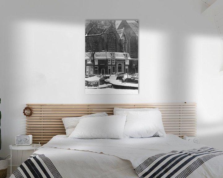 Sfeerimpressie: Amsterdam Oudekerksplein, 1941 van Ton deZwart