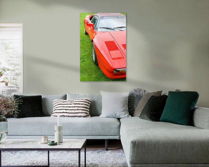 Sfeerimpressie: Ferrari 288 GTO raceauto uit de jaren 80 in Ferrari rood van Sjoerd van der Wal