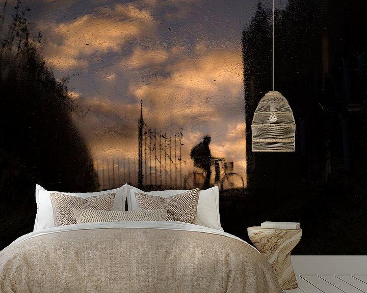 Sfeerimpressie behang: Reflectie bij Slot Assumburg van Paul Beentjes