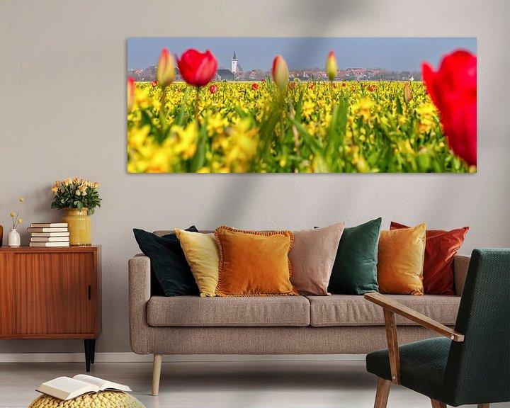 Sfeerimpressie: Bollenvelden rondom den Hoorn op Texel / Bulb fields around the Hoorn on Texel van Justin Sinner Pictures ( Fotograaf op Texel)