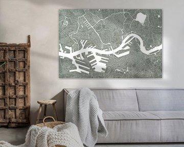 Rotterdam Stadskaart | Betonlook van Wereldkaarten.Shop