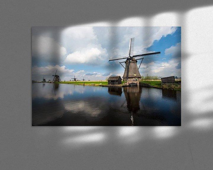 Sfeerimpressie: Kinderdijk Windmolens van Brian Morgan