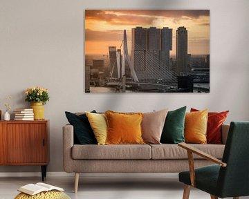 Sonnenaufgang Rotterdam sur Jesse Barendregt