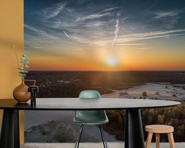Sfeerimpressie behang: Sunset Loonze duinen van Above The Grid