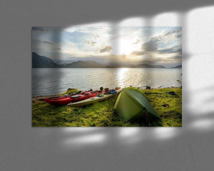 Sfeerimpressie: Kamperen in een Noors fjord tijdens een kanotrip in de zomer van Sjoerd van der Wal